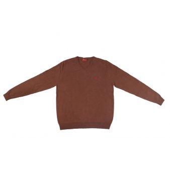 Jersey cuello pico marron