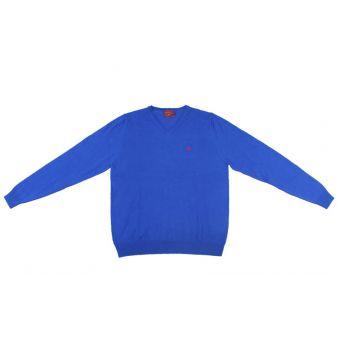 Jersey cuello pico color tinta