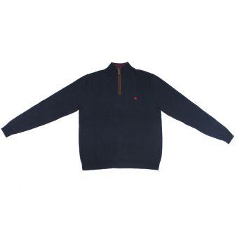Jersey con cremaller marino