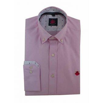 Camisa rosa lunares