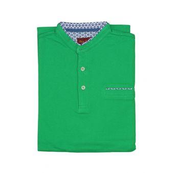 Polo verde cuello mao