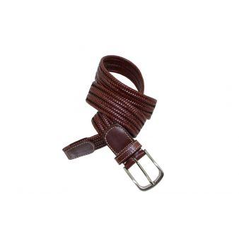 Cinturón trenzado marron