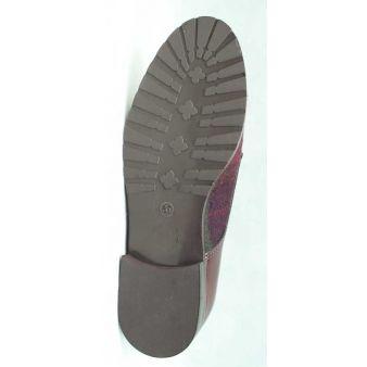 Zapato dos hebillas mujer budeos combinado