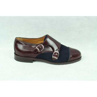 Zapato dos hebillas mujer marino