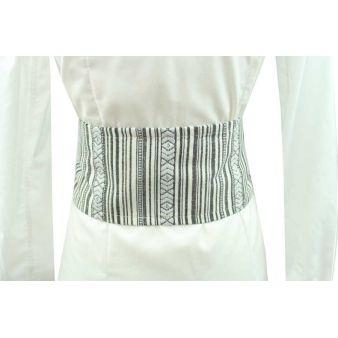 Large grey and white sash