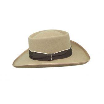 Sombrero gambler lana nutria