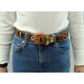 Boy's ethnic print belt