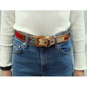 Cinturón niño azul, verde, beig y rojo