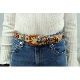 Beige boy's belt