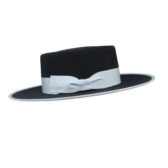 Sombrero garrocha marengo cinta blanca