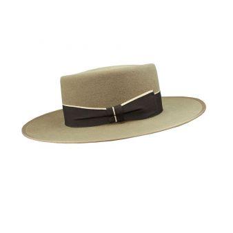 Sombrero garrocha nutria cinta negra