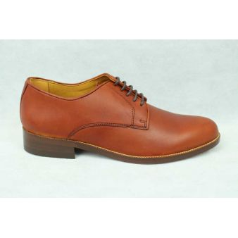 Hazelnut calfskin lace-up shoe