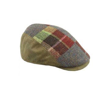 Gorra combinada marrón