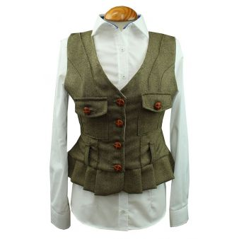 Green Madroño model waistcoat