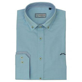 Sky blue striped collar shirt