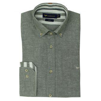 Khaki striped collar shirt