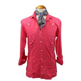 Coral linen Cuban shirt