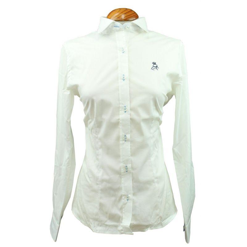 Camisa de mujer en color blanco, con bordado de amazona