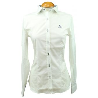 Lady's white shirt with...