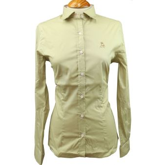 Women's camel shirt with...