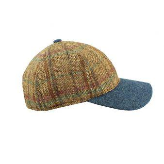 Strike cap blue / camel check