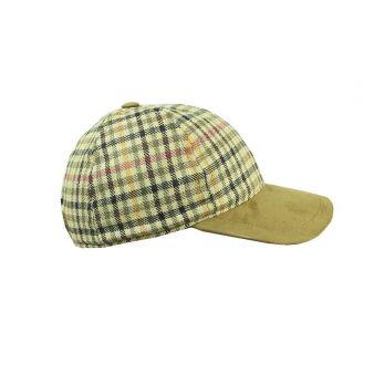 Strike green checked cap