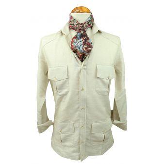 Camisa cubana beige