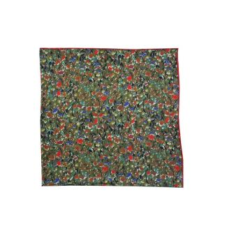 Green floral neck scarf