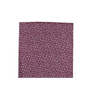 Burgundy floral neck scarf
