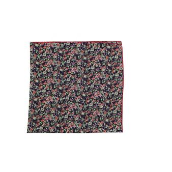 Purple flowers neck scarf