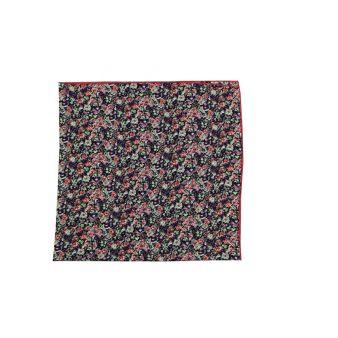 Pañuelo cuello flores moradas
