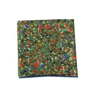 Pañuelo cuello flores verdes