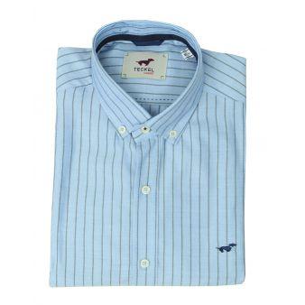 Camisa celeste rayas marino