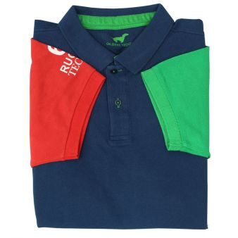 Mixed short sleeve polo shirt