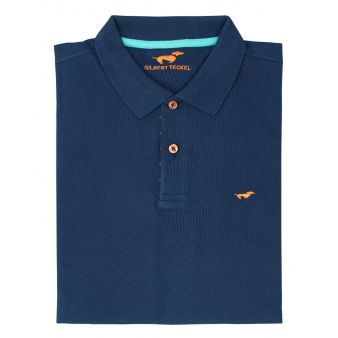 Navy blue short sleeve polo...