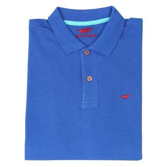 Polo manga corta azul