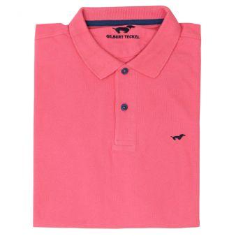 Polo manga corta rosa