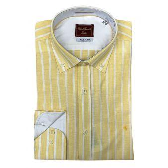 Camisa rayas anchas amarillo