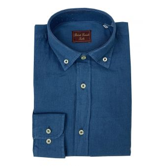 Camisa botón azul
