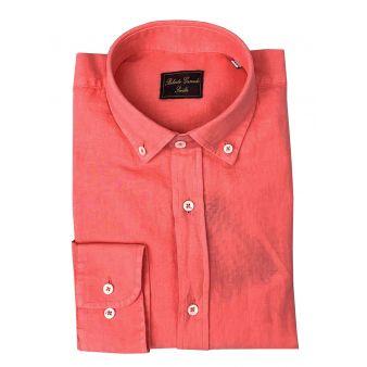 Camisa botón coral