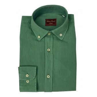 Camisa botón verde