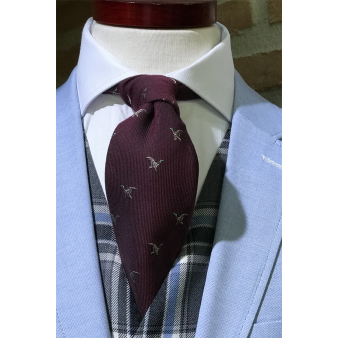 Burgundy woollen tie with...