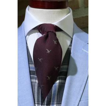Corbata lana pato burdeos