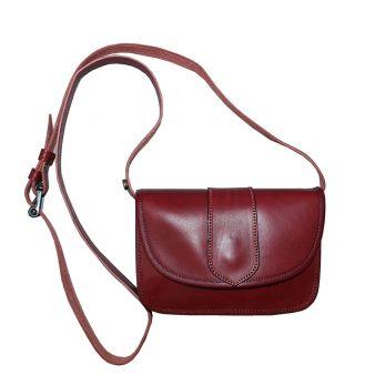 Plain cherry  pilgrimage pouch