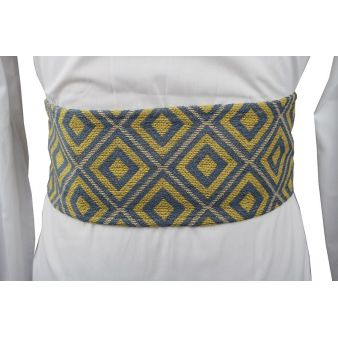 Large yellow-blue sash with...