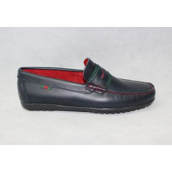 Navy moccasin with shoe...