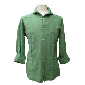 Green Cuban shirt