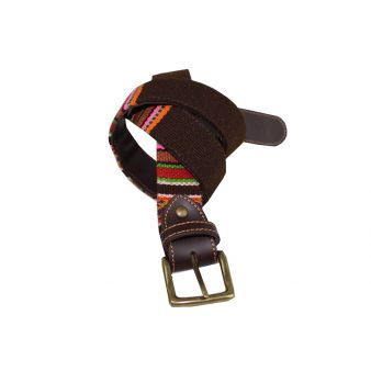 Multi-coloured brown belt...