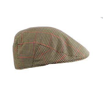 Gorra campera cuadros marrón