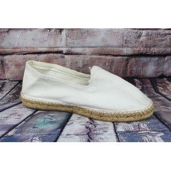 White esparto loafer
